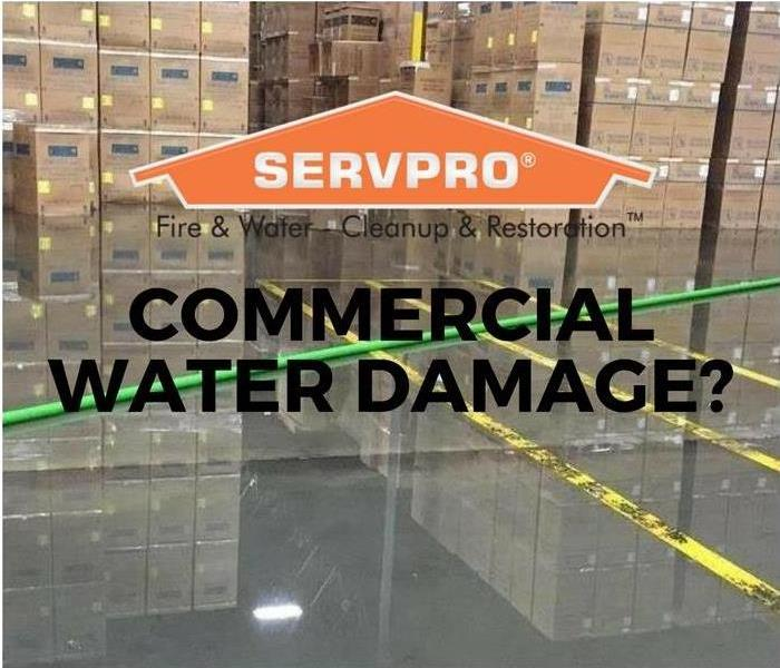 A flooded warehouse